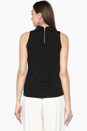Womens Turtle Neck Solid Top