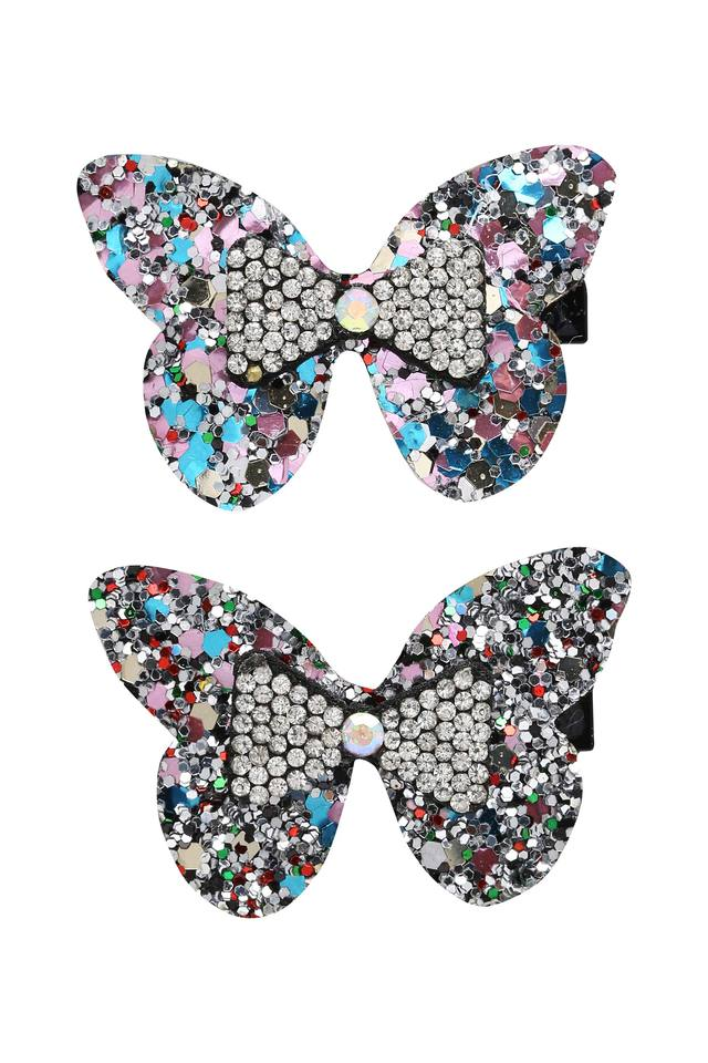 Girls Stone Studded Clips Pack of 2