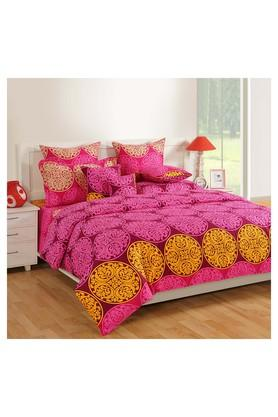 SWAYAMPrinted Double Bed Sheet, Comforter And Pillow Covers Set - 204584182_9654