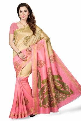 ISHINWomens Printed Bhagalpuri Art Silk Saree - 204036357_8334
