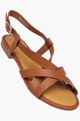 ALLEN SOLLY Womens Casual Wear Buckle Closure Flats - 202873015