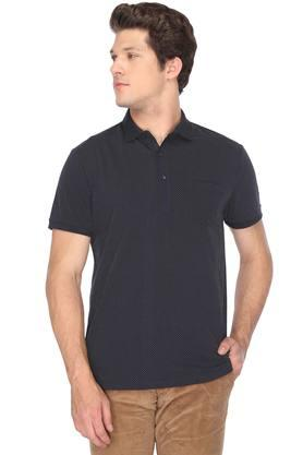 Mens Dot Pattern Polo T-Shirt