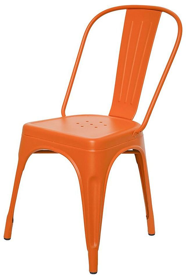 Orange Stylo Chairs Set of 4