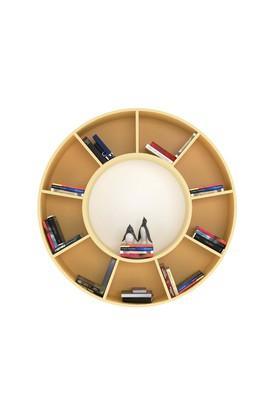 White Solaris round book shelf