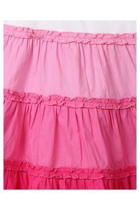 Girls Round Neck Colour Block Dress