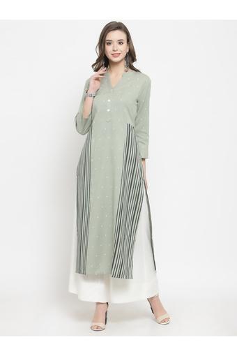 VARANGA -  GreenSalwar & Churidar Suits - Main