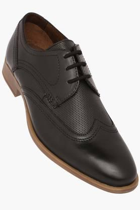 VENTURINI Mens Leather Lace Up Derby - 203381553