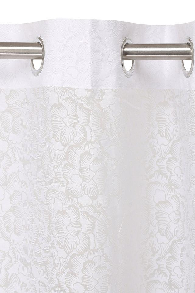 Poly Cotton Burnout Floral Printed Door Curtain