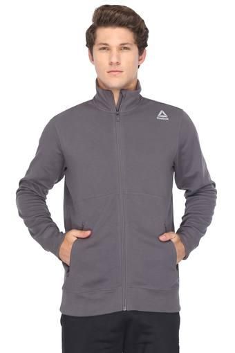 Mens Zip Through Neck Solid Jackets