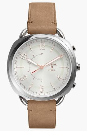 FOSSIL Womens Q Accomplice Sand Leather Hybrid Smartwatch - FTW1200