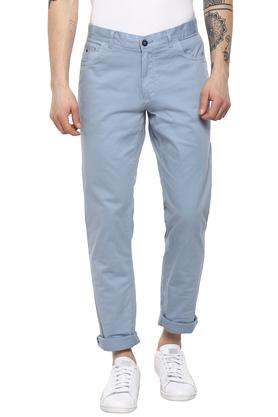 Mens 5 Pocket Solid Trousers