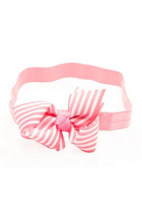 Girls Striped Ribbon Bow Hairband
