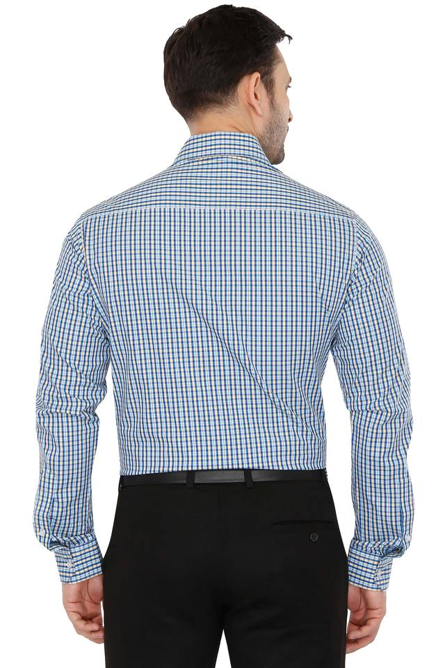 Mens Slim Collar Check Shirt