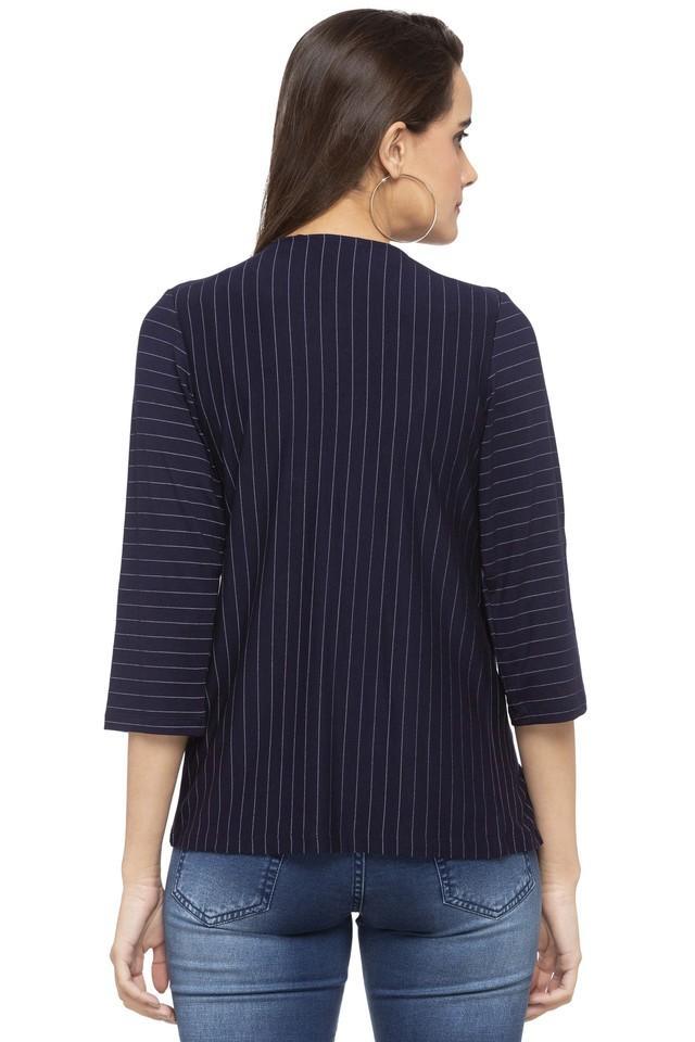 Womens Open Front Stripe Shrug