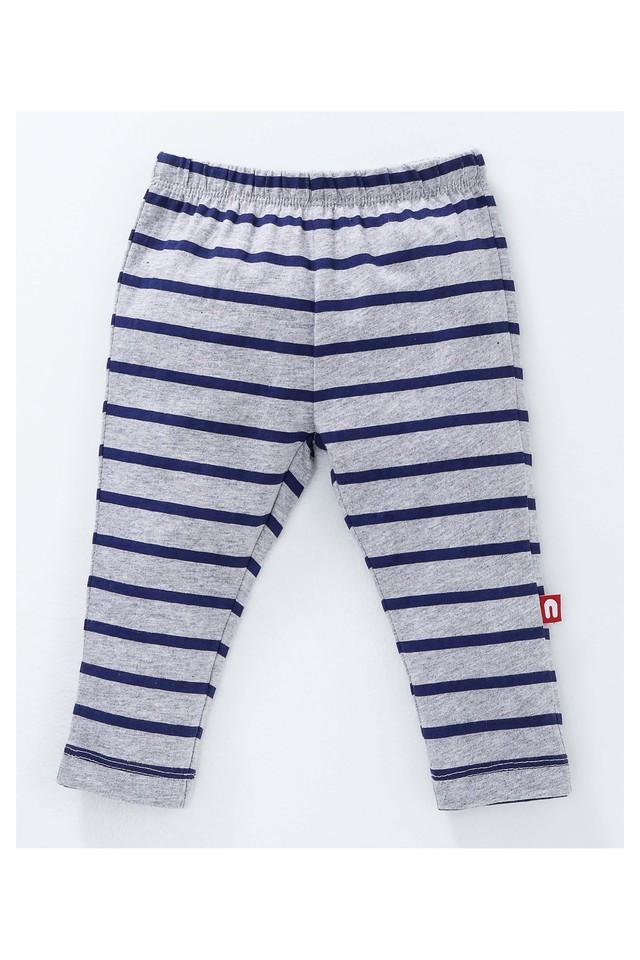 Boys Regular Fit Printed and Stripe Leggings Pack of 2