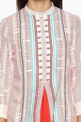 Womens Mandarin Neck Printed Kurta
