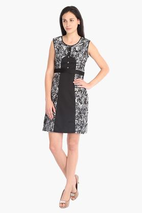 Womens Printed Short Dress