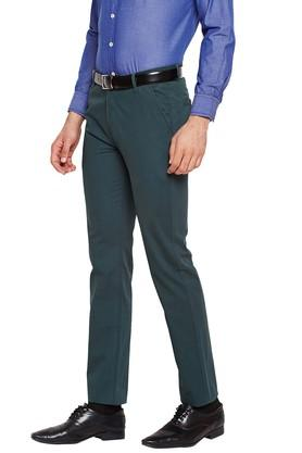 Mens 4 Pockets Solid Chinos