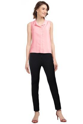 Womens 2 Pocket Stripe Jeggings