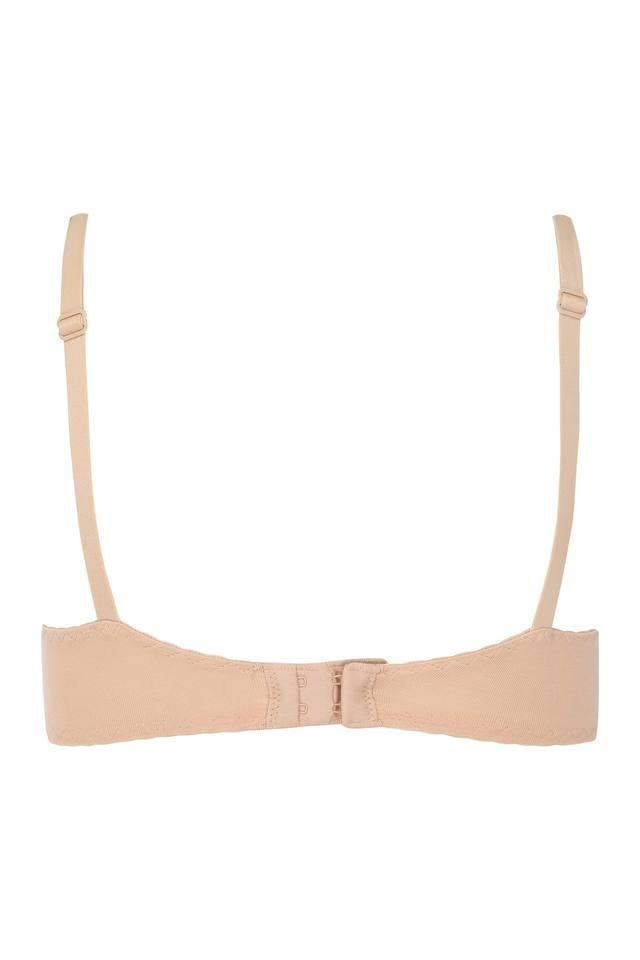 Womens Solid Padded Underwired Full Coverage Bra