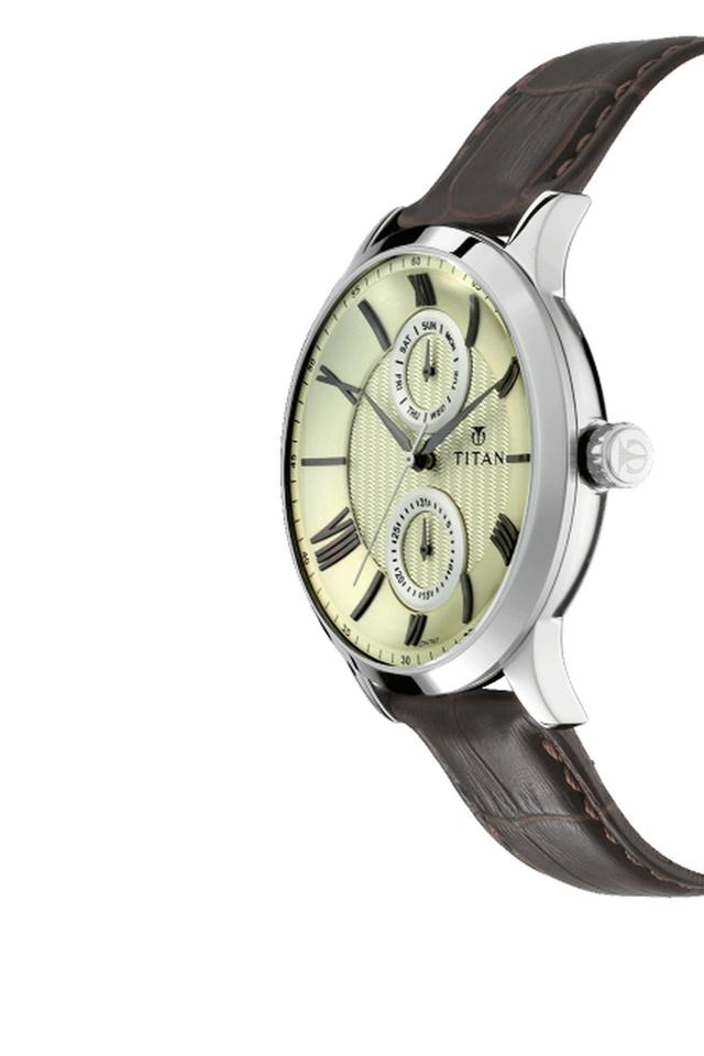 Mens Analogue Leather Watch - 90100SL01