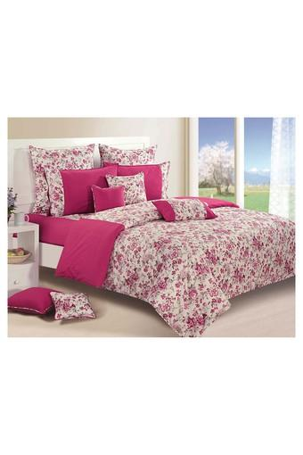 SWAYAM -  Magenta Bed Sheets - Main