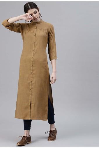 Women Cotton Woven Design Pathani Kurta