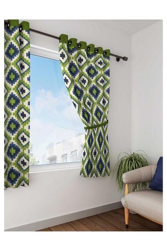 Geometric Print Window Curtain