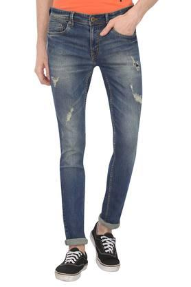ab3452dbcf00 X LIFE Mens 5 Pocket Distressed Jeans