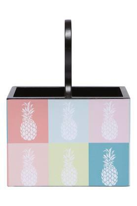 Square Printed Tropical Sphere Cutlery Holder