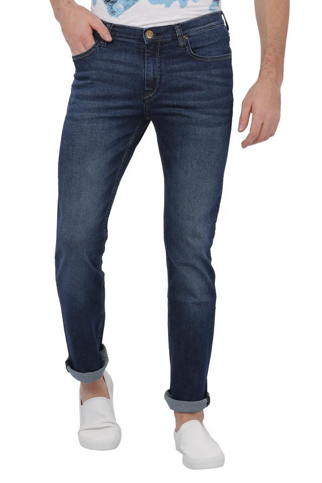Mens 5 Pocket Whiskered Effect Bruce Jeans