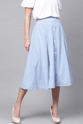 SASSAFRAS Womens Striped Casual Skirt