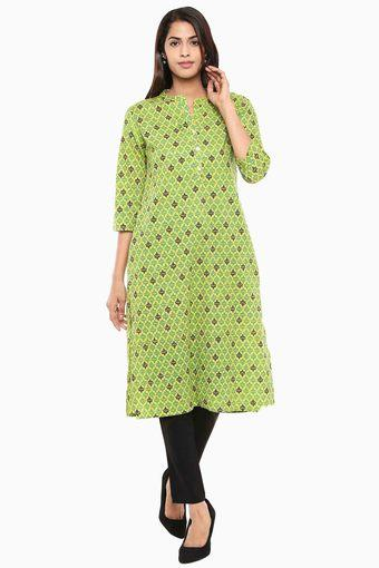 STOP -  Lime Green Kurtas - Main