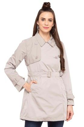 STOPWomens Collared Solid Jacket