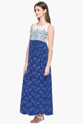 RS BY ROCKY STAR Womens Round Neck Printed Kurta - 202680665