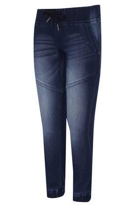 Boys 4 Pocket Whiskered Effect Jogger Jeans