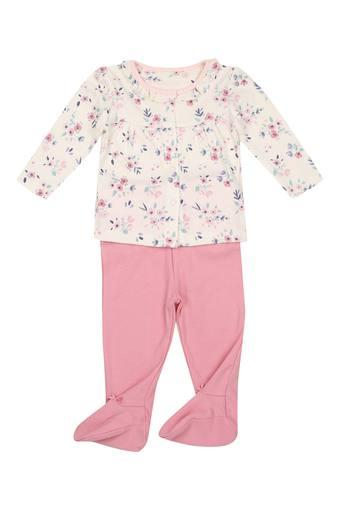 ac1d75bf0 Buy MOTHERCARE Girls Round Neck Printed Baby Suit Top and Pants Set ...