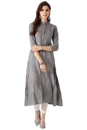 LIBASWomens Striped Kurta - 204059798_9204