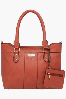 ELLIZA DONATEINWomens Zipper Closure Satchel Handbag - 203291453