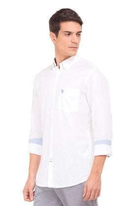 Mens Regular Fit Solid Casual Shirt