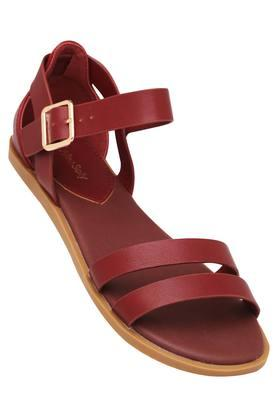 ALLEN SOLLY Womens Casual Wear Buckle Closure Flats - 203729662_9614