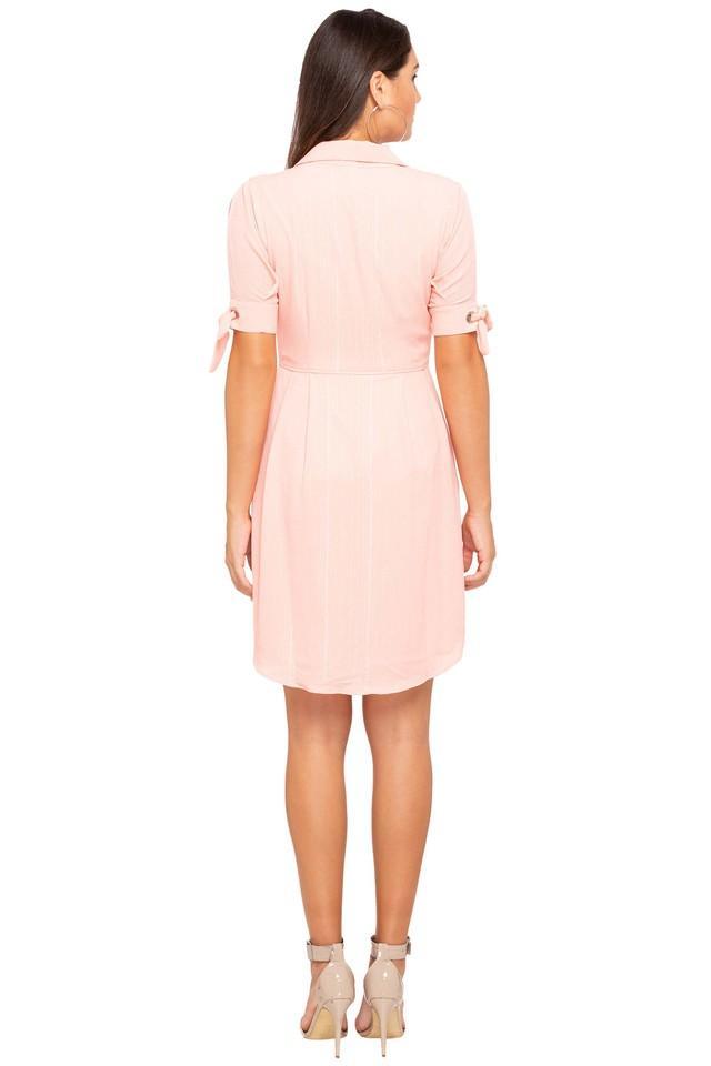 Womens Striped Short Dress