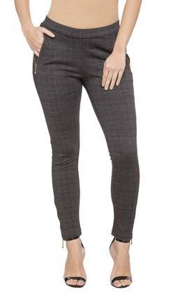 Womens 2 Pocket Check Pants