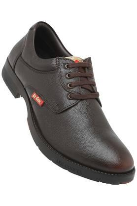 Mens Leather Laceup Casual Shoes