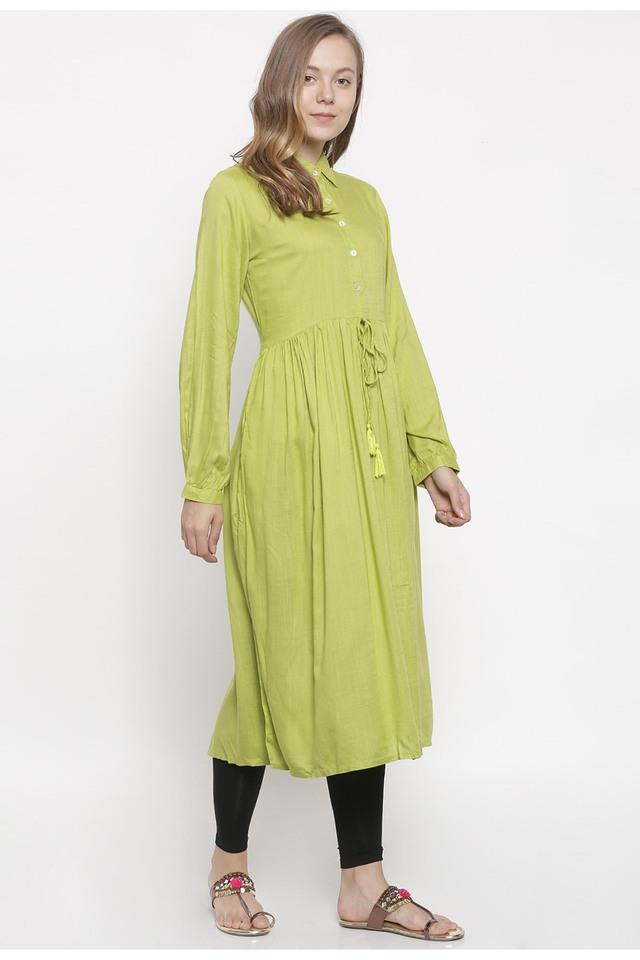 Womens Solid Casual Kurta