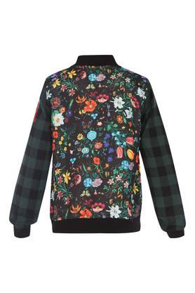 Girls Mandarin Neck Printed Sweatshirt
