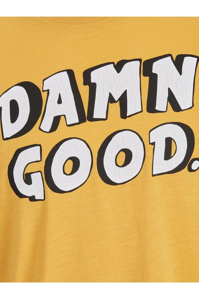 Mens Round Neck Slim Fit Printed T-Shirt