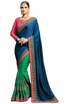 VRITIKA Womens Embroidered Saree With Blouse - 204144520_9463