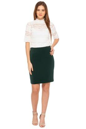 Womens Solid Skirt