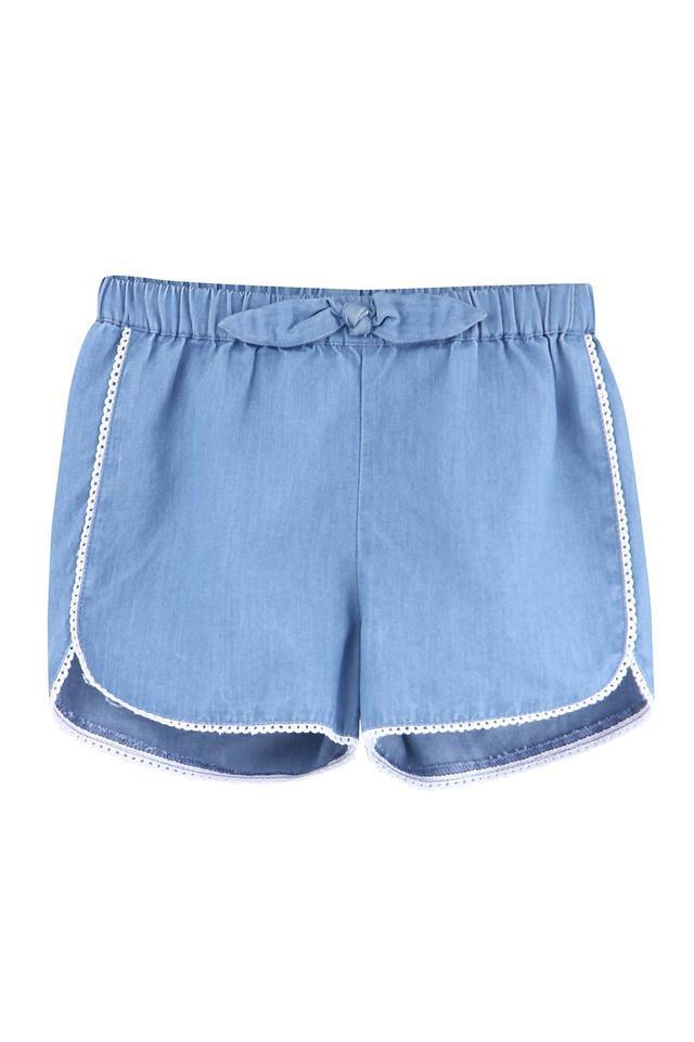 Girls Regular Fit Solid Shorts